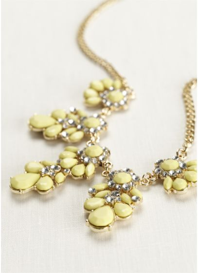 Teardrop Cluster Statement Necklace - Wedding Accessories